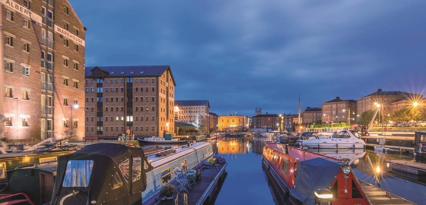 Gloucester Quays At Night